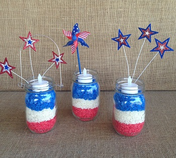 Red White Blue Mason Jar Centerpieces Children S Books Play