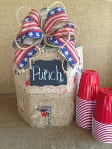 red white blue photo 9 Beverage container
